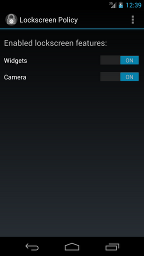 Dont like Android 4.2 lock screen widgets? Turn them off then!