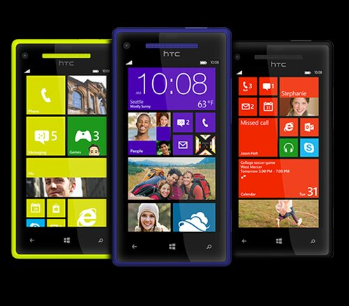 HTC 8X in blue now in stock