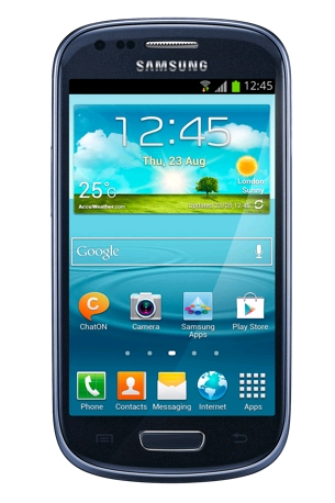 Samsung Galaxy SIII Mini in blue now in stock
