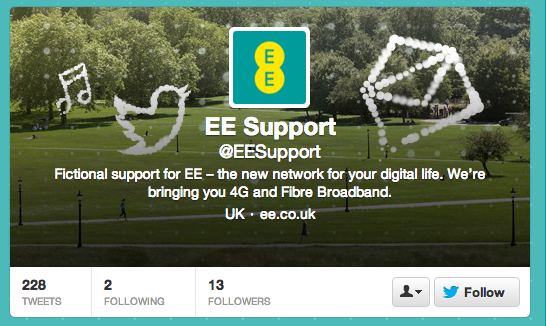Fake EE twitter account confuses customers