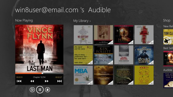 Audible for Windows 8/RT now available