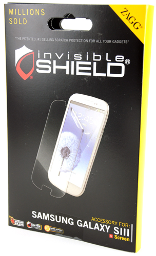 Zagg Invisible Shield Screen Protector box