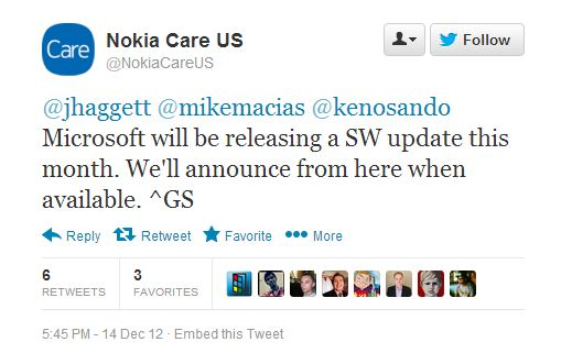 Lumia 920 update approaching