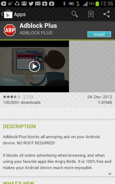 AdBlock Plus removed from Play Store by Google