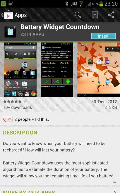 Battery Widget Countdown   See how long your battery has left