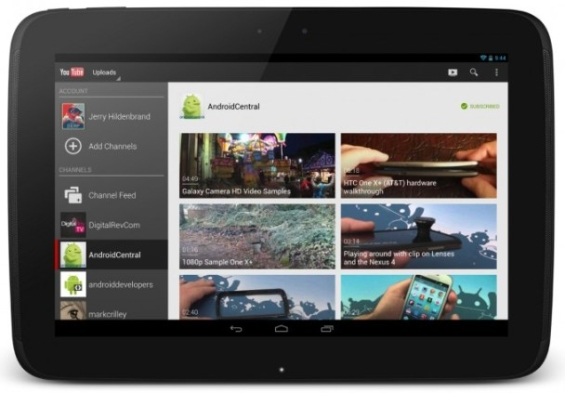 YouTube updated for Android 10 tablets