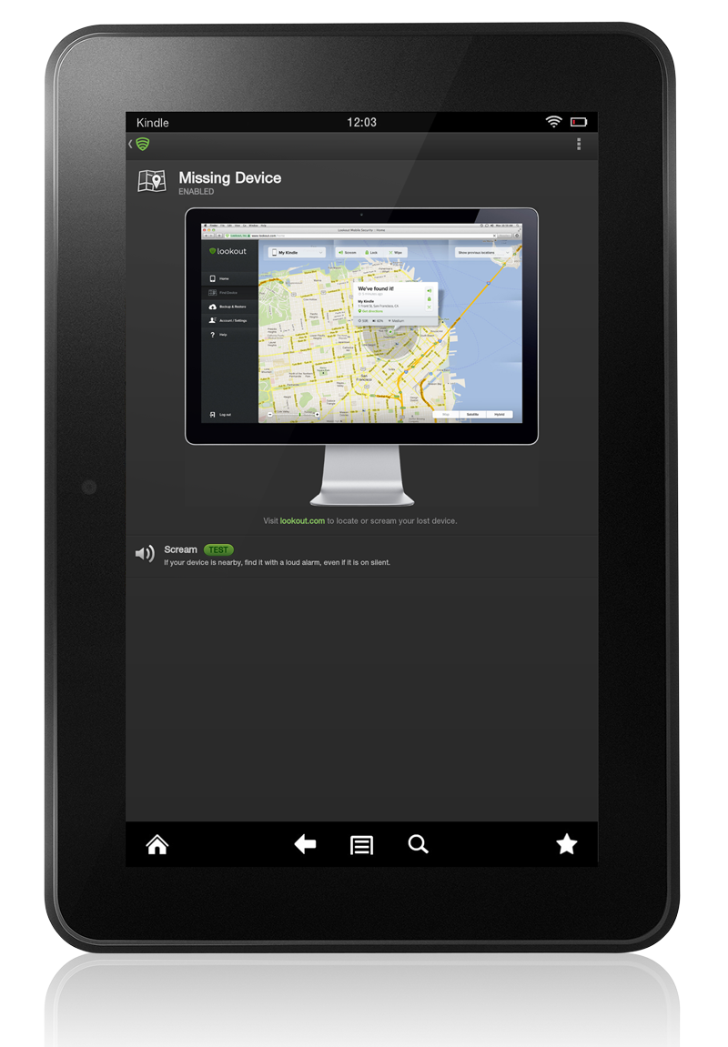 Lookout now available for Kindle Fire HD