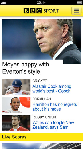 BBC Sport App launches for iOS