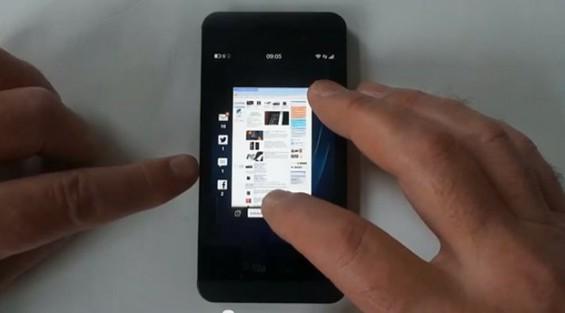 BlackBerry Z10 hands on video