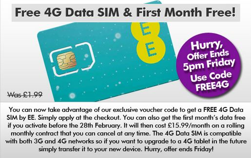 Try EE 4G yourself, free for a month. Heres how..