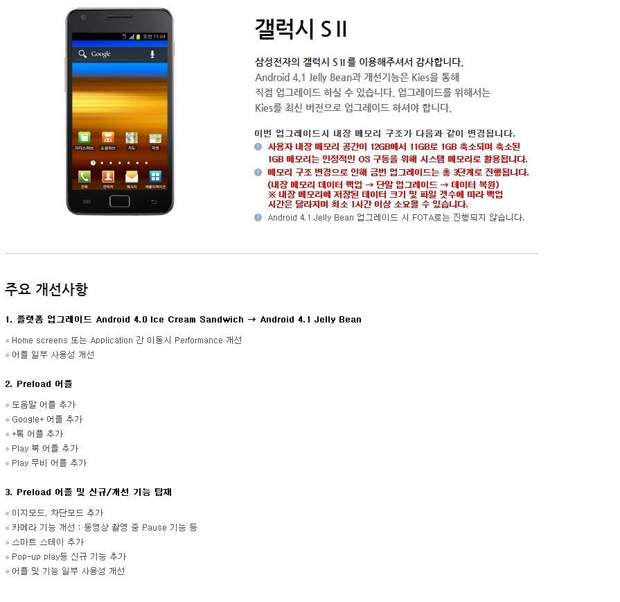 Jellybean for Samsung Galaxy SII due this week