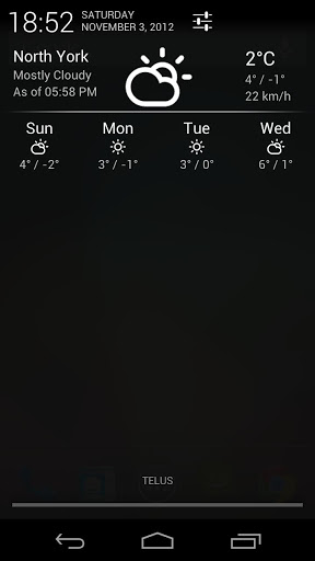 Notification Weather app
