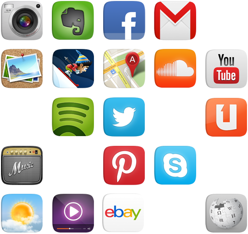 phone apps grid extended