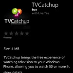 TVCatchup is now available for Windows Phone 8