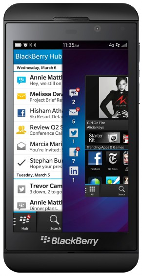 BlackBerry Z10 Front View