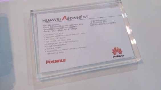 MWC   Huawei Ascend W1 Hands on
