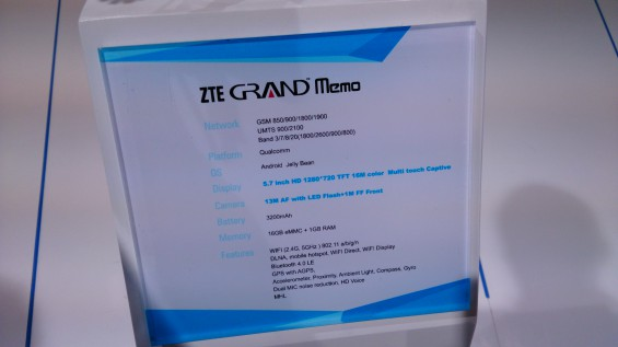 MWC   ZTE Grand Memo hands on