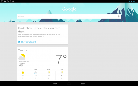 Google Now Nexus 10