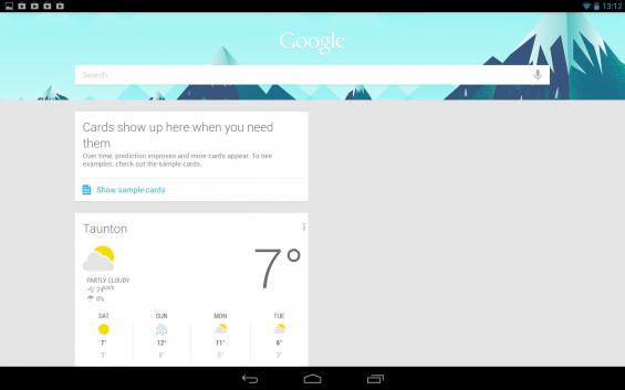 Google Now Nexus 10