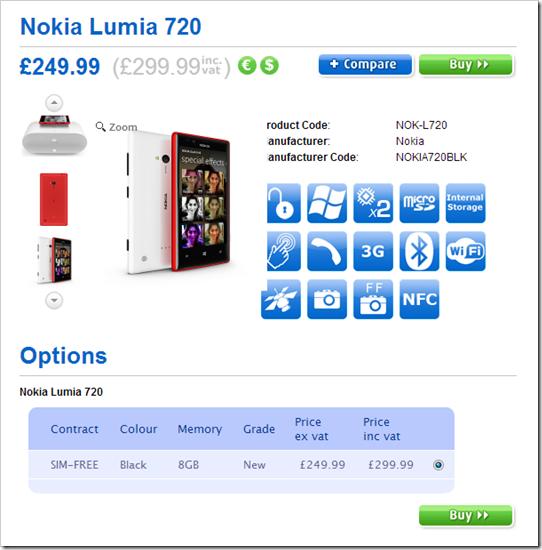 Lumia 720 UK