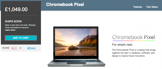 Chromebook Pixel announced