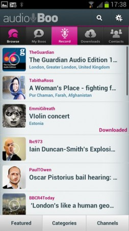 Audioboo Android app has a revamp