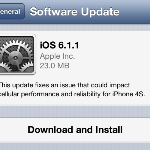 iOS 6.1.1 OTA Update released