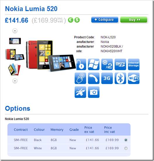 Lumia 520 & 720 arriving 1st April