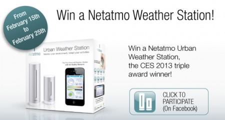 Win a Netatmo Urban Weather station