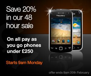 Grab 20% off all Orange PAYG handsets under £250   48 hours only [Update 2]