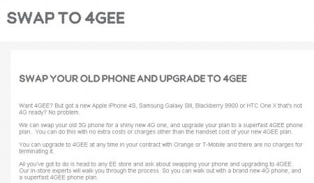 EE offering a contract swap for Orange and T Mobile customers