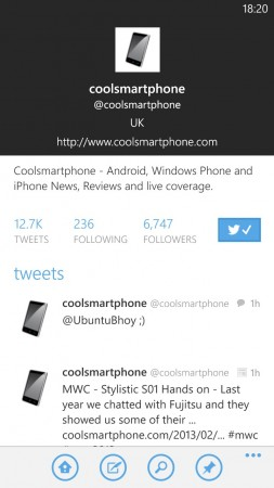 Windows Phone Twitter app just got awesome