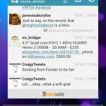 Hootsuite for Android, the Twitter and Facebook app gets a widget, at last!