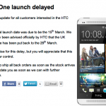 HTC One delayed (UPDATE)