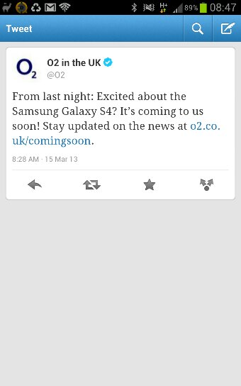 O2 Confirm   The S4 is approaching
