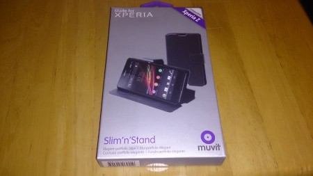 Muvit Slim and Stand, Xperia Z case review