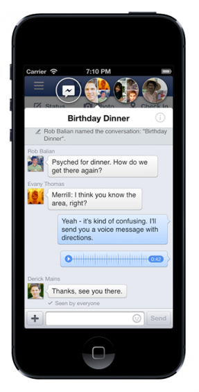 Chatheads for iOS and Facebook Home for Android released in the UK