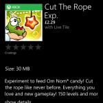 Cut the Rope: Experiments now on Windows Phone