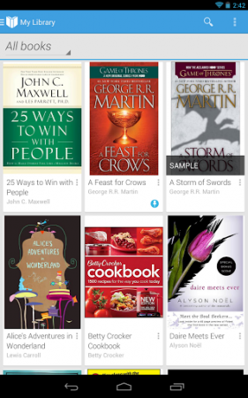 Google Play Books is updated