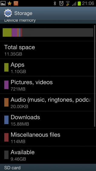 Half the storage on the Galaxy S4? Read the full story