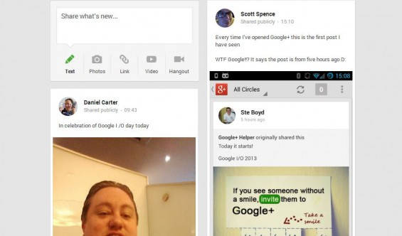 Google+ gets redesign and intelligence. Hangouts to replace Google Talk