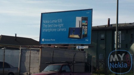 Nokia Lumia 928 billboard poster seen 10 days before launch date