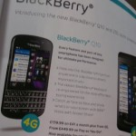 BlackBerry Q10 appears in EE magazines.