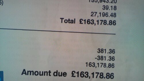 Had a big phone bill? Its nothing compared to this, but..