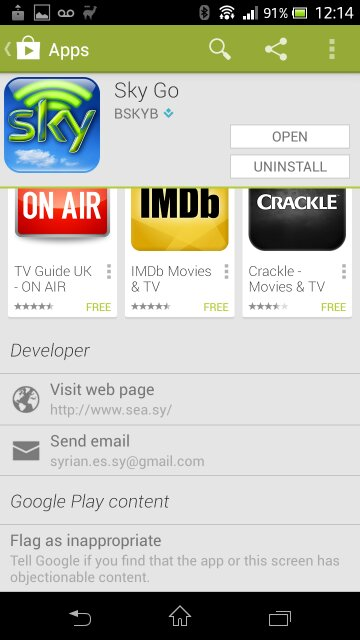 All Skys Android apps hacked by SEA