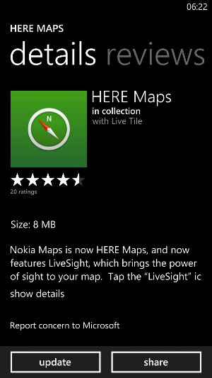 Nokia Here Maps updated to include Livesight