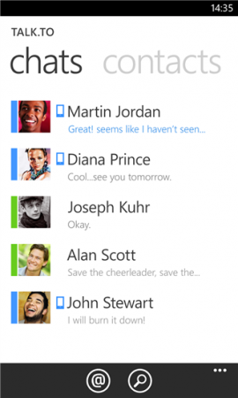 Talk.to Windows Phone Messenger for Google Talk and Facebook