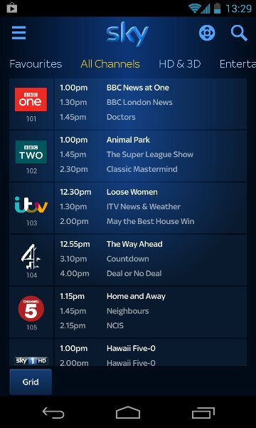 Sky+ Android app updated, and jolly good it is too