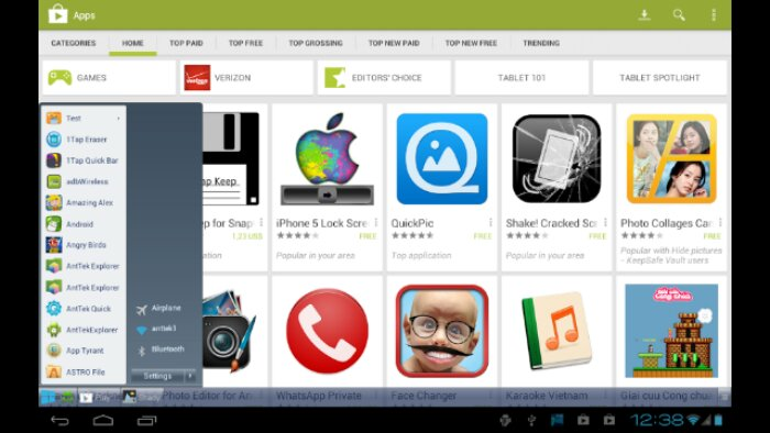 Taskbar   Windows 8 Style   bringing the Start button to Android
