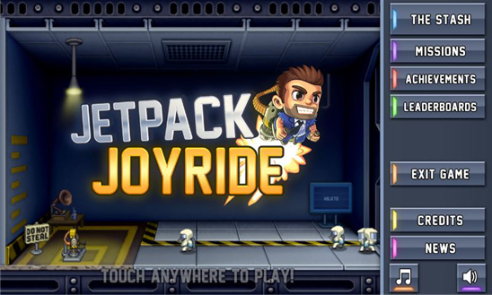 Jetpack Joyride is now available for Windows Phone 8